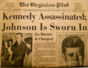 JFK Assassination headline
