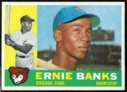Ernie Banks baseball card