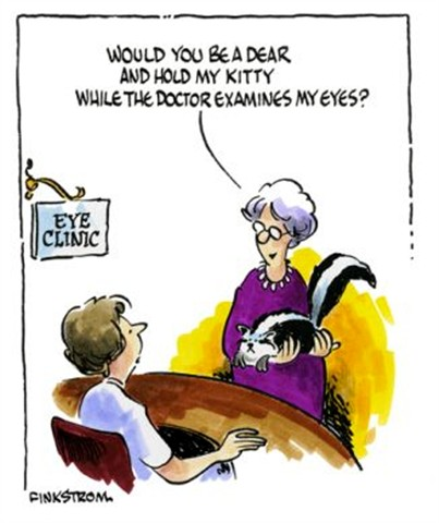 eye exam humor