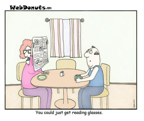 eye exam cartoon