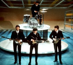 Beatles performing on Ed Sullivan Show